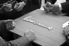 Game of Dominoes Stock Photos