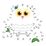 The game of dots, the owl stock image