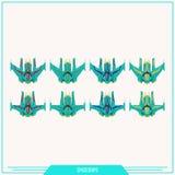 Game Element Spaceships Royalty Free Stock Photos