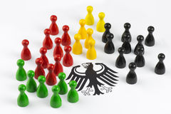Game figures with federal eagle Royalty Free Stock Image