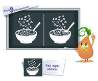Game find 9 differences cereals Royalty Free Stock Images