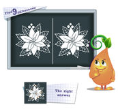 Game find 9 differences flower Royalty Free Stock Photography