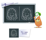 Game find 9 differences lion Royalty Free Stock Images