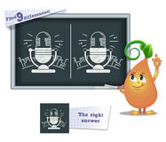 Game find 9 differences radio Royalty Free Stock Image