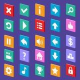 Game flat icons Royalty Free Stock Photos