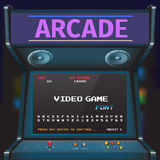 Game Font. Arcade Video Game Font. 8 bit font. Arcade Retro Machine Stock Illustration