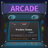 Game Font. Arcade Video Game Font. 8 bit font. Arcade Retro Machine Stock Photos