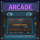 Game Font. Arcade Video Game Font. 8 bit font. Arcade Retro Machine Royalty Free Illustration