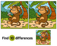 Free Game For Children: Find Differences (little Monkey) Royalty Free Stock Photography - 60178957