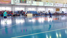 During a game of Futsal stock video footage