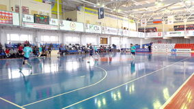 During a game of Futsal stock footage