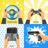Game Gadget 2x2 Design Concept Stock Photos