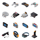 Game Gadgets Isometric Icons Collection royalty free illustration
