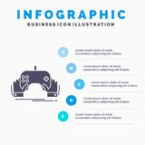 game, gaming, mobile, entertainment, app Infographics Template for Website and Presentation. GLyph Gray icon with Blue infographic royalty free illustration