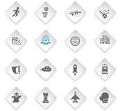 Game genre icon set. Game genre flat web icons for user interface design Royalty Free Stock Images