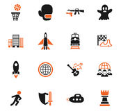 Game genre icon set. Game genre web icons for user interface design Stock Photo