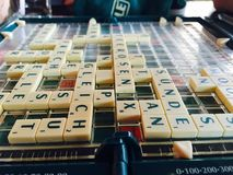 A game of German Scrabble Royalty Free Stock Photos