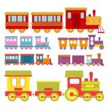 Game gift kids train vector travel railroad transportation toy locomotive illustration. Royalty Free Stock Photos