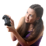 Game-girl Stock Photo