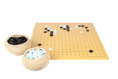 The game of go. With white background royalty free stock photo
