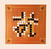 The game of go. Is ancient Chinese game Royalty Free Stock Photo