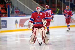 Before the game. Goalkeeper Rastislav Stania Royalty Free Stock Images