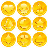 Game Gold Coins Stock Photo