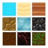 Game ground textures vector Stock Photos
