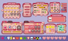 Game gui 20. Complete set of graphical user interface (GUI) to build games and applications Vector Illustration