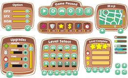 Game gui 4 Royalty Free Stock Images