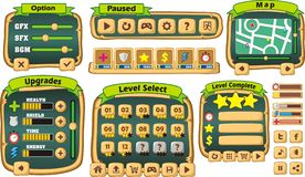 Game gui 3. Complete set of graphical user interface (GUI) to build games and applications vector illustration