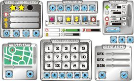 Game gui 6. Complete set of graphical user interface (GUI) to build games and applications stock illustration