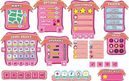 Game gui 10. Complete set of graphical user interface (GUI) to build games and applications vector illustration