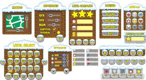 Game gui 11. Complete set of graphical user interface (GUI) to build games and applications vector illustration