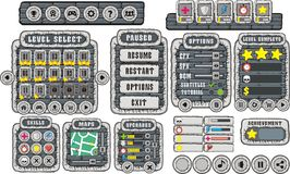 Game gui 13. Complete set of graphical user interface (GUI Royalty Free Stock Image