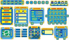 Game gui 12. Complete set of graphical user interface (GUI) to build games and applications vector illustration