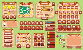 Game gui 25. Complete set of graphical user interface (GUI) to build games and applications stock illustration
