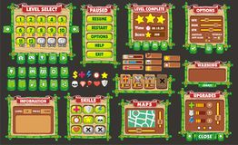 Game gui 37. Complete set of graphical user interface (GUI) to build games and applications royalty free illustration