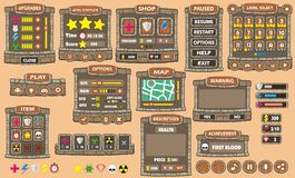 Game gui 42. Complete set of graphical user interface (GUI) to build games and applications royalty free illustration