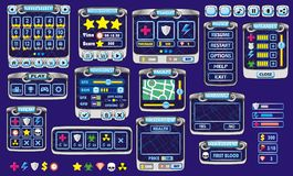 Game gui 41. Complete set of graphical user interface (GUI) to build games and applications stock illustration