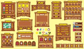 Game gui 50. Complete set of graphical user interface (GUI Royalty Free Stock Images