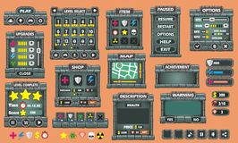 Game gui 46. Complete set of graphical user interface (GUI) to build games and applications stock illustration