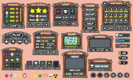 Game gui 45. Complete set of graphical user interface (GUI) to build games and applications vector illustration