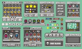 Game gui 48. Complete set of graphical user interface (GUI) to build games and applications vector illustration