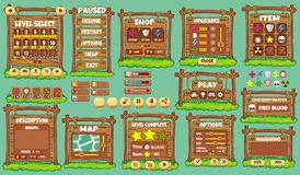 Game gui 51. Complete set of graphical user interface (GUI) to build games and applications stock illustration