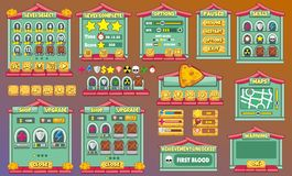 Game gui 52. Complete set of graphical user interface (GUI) to build games and applications vector illustration