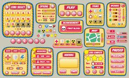 Game gui 57. Complete set of graphical user interface (GUI Royalty Free Stock Images