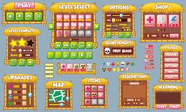 Game gui 60. Complete set of graphical user interface (GUI) to build games and applications royalty free illustration