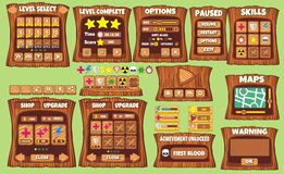 Game gui 58. Complete set of graphical user interface (GUI) to build games and applications royalty free illustration