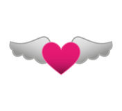 Game heart with wings isolated icon Royalty Free Stock Photos